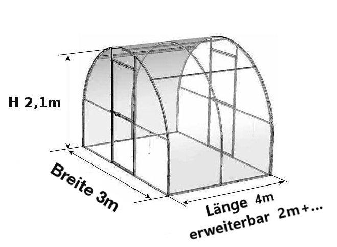 Tunnel Gewächshaus aus Polycarbonat