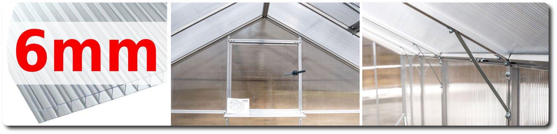 6 serra tunnel casetta policarbonato 6mm madelux