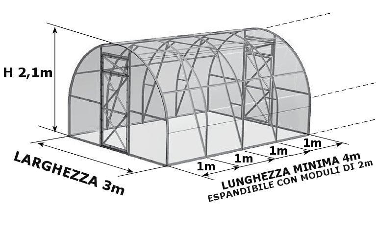 serra policarbonato prime tunnel serrashop