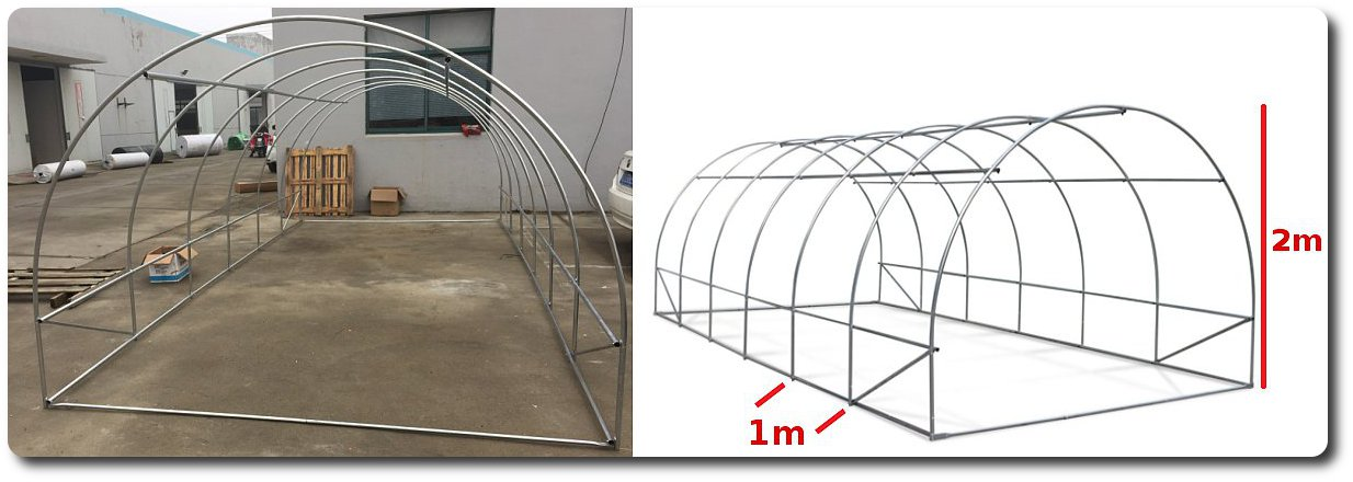 caratteristiche serra tunnel arcate tubi