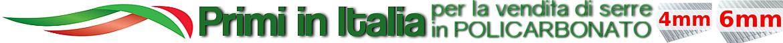 siamo una azienda italiana al 100% primi per la vendita di serre in policarbonato